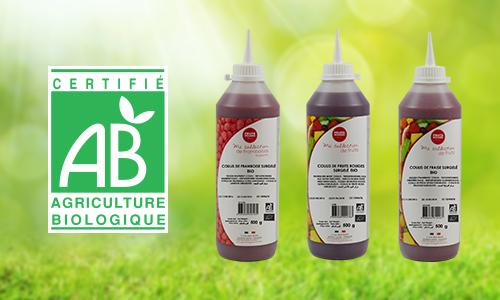 Organic fruit coulis