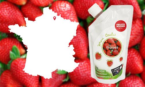 Mon coulis de fraises d'ici