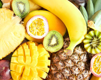 Exotic fruits purees