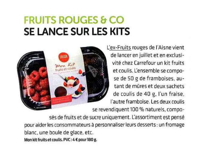 FRUITS ROUGES & Co - Linéaires