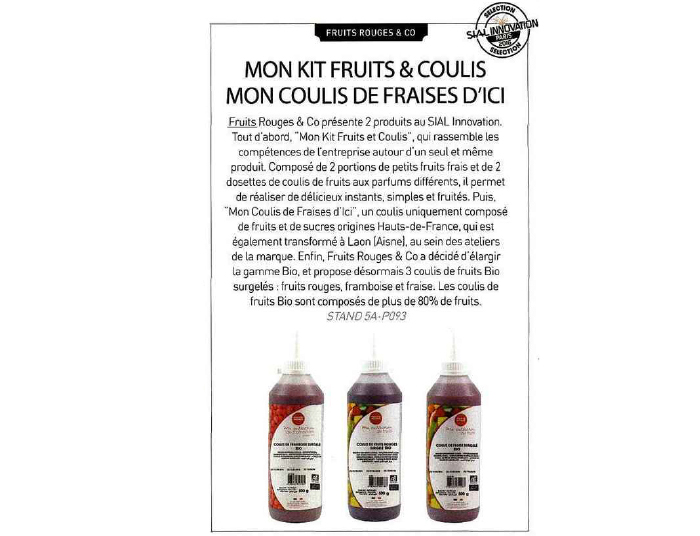 FRUITS ROUGES & Co - Honoré mag