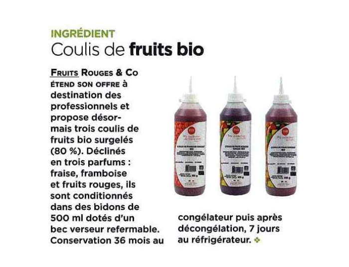 FRUITS ROUGES & Co - LA TOQUE
